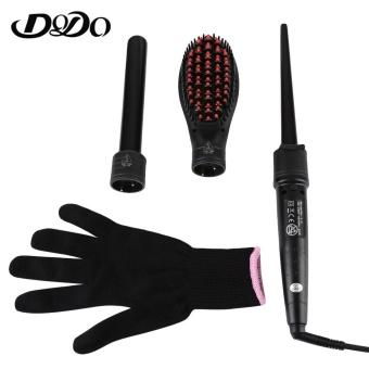 Harga Health Beauty Hair Stylers Dodo Electric 3 In 1 Dual Use Ceramic Curling Iron Hair Curler(Black) – intl Murah