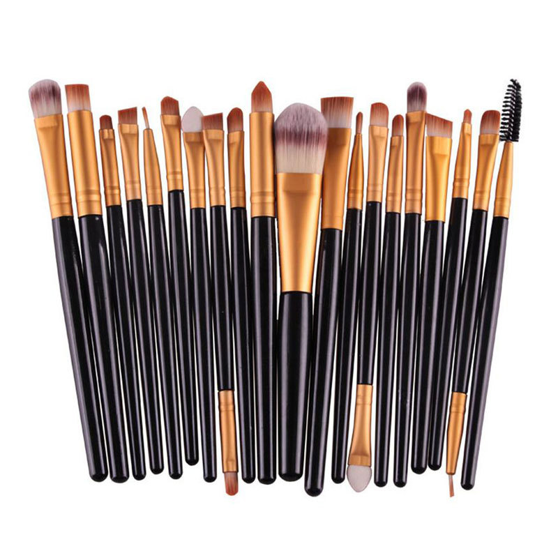 ... HengSong 20 buah/Set kuas Make Up Set kuas Make Up alat Make Up Kit ...