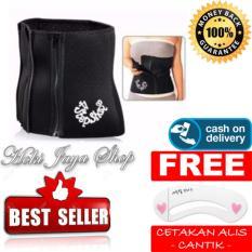 HOKI COD - 4 Step Shape Korset Pelangsing Tubuh Slimming Belt Ada Dus Box + Gratis Cetak Alis Cantik - Premium