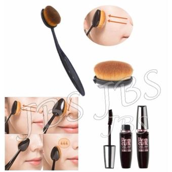 Harga JBS Paket Kuas - Oval Brush / Kuas Make Up Oval Brush / Oval Foundation Brush / Kuas Make Up - Mascara Waterproof - Hitam