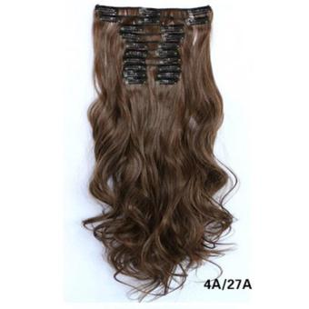 Harga Hair Extension Perpanjangan Rambut model klip clip wigs long curly 55 cm 4a27a
