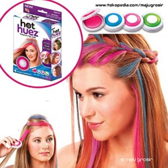 Harga Laris Unik - Hot Huez Hair Chalk -Pewarna Rambut Temporary