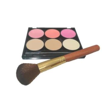 Harga New Palette Blush On 3 Warna, Powder Bedak 3 Warna + Kuas 1pc