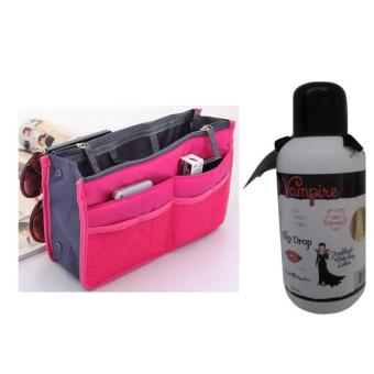 Harga Bag in Bag organizer Model Korea ( Tas dalam Tas ) Hot Pink + Lotion Vampire 150ml BPOM