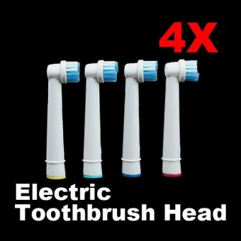 Harga 4 PCS Tooth Brushes Head Electric Toothbrush Replacement Heads for Oral Vitality Hygiene - intl