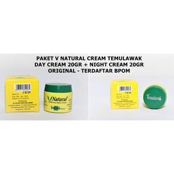 Temulawak V Natural Paket Cream BPOM Krim Siang & Malam 2 Item .