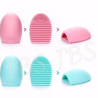 Harga JBS Makeup Brush Cleaner Cleaning Washing Foundation Brushegg Cosmetic - Pembersih Kuas Make Up Multi Colour