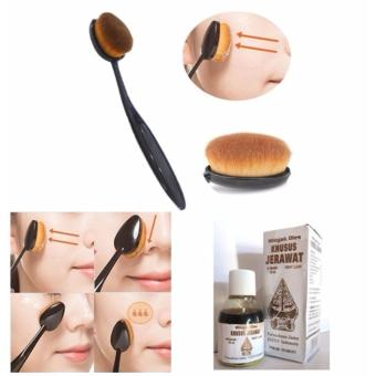 Harga JBS Paket Kuas - Oval Brush / Kuas Make Up Oval Brush / Oval Foundation Brush / Kuas Make Up - Minyak Oles Wayang Khusus Jerawat 30ml
