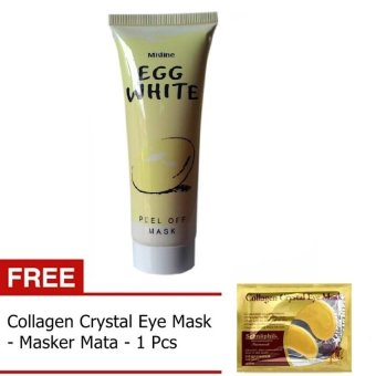 Harga Mask Egg White Peel + Gratis Collagen Crystal Eye Mask - Masker Mata - 1 Pcs