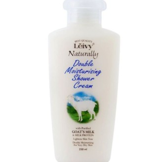 Leivy Shower Cream 250 ML Botol Sabun Susu Kambing