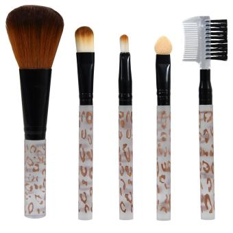 Harga Queen Of The Shine Make Up Brush / Kuas Make Up / Brush Set / Kuas Set 001 Isi 5 (Aqua Gold)