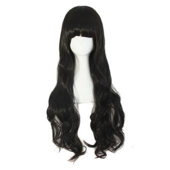 Harga Women Fluffy Long Curly Hair Wig With Bangs - intl