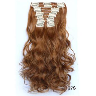 Harga Hair Extension Perpanjangan Rambut model klip clip wigs long curly 55 cm 27s