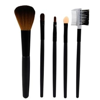 Harga Queen Of The Shine Make Up Brush / Kuas Set 004 Isi 5 (Black)