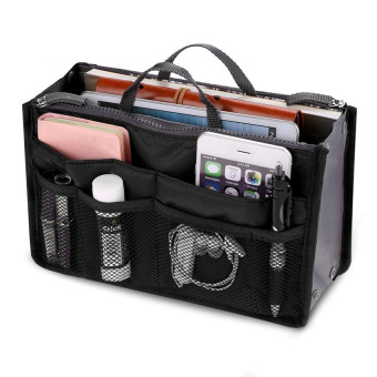 Harga Lucky Tas Kosmetik Makeup Organizer Storage Bag Pouch Holder Black