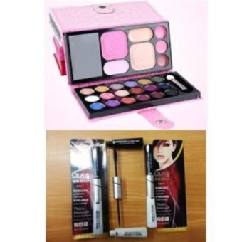 Harga Pocket Make Up Pallete Mini Eyeshadow Dompet + Olay 2in1 Mascara dan Eyeliner