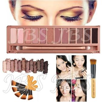 JBS Profesional 12 Warna Eye Shadow Makeup Palette Kit N3 - Professional Brush Powder Multifunction