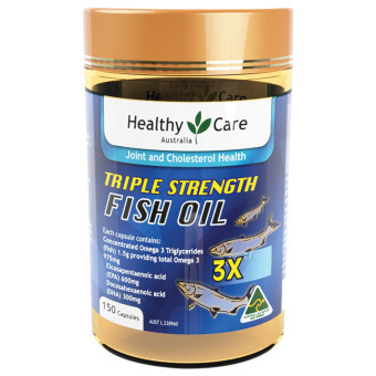 Blackmores Omega Triple Concentrated Fish Oil 150 Kapsul Spec dan Source · Healthy Care Triple Strength