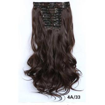 Harga Hair Extension Perpanjangan Rambut model klip clip wigs long curly 55 cm 4a33
