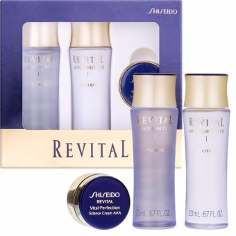 Harga Shiseido Revital Set (Lotion I 20ml+Moisturizer I 20ml + Revital Vital-Perfection Science Cream AAA 7ml)