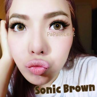 Harga Dreamcolor1 Sonic Brown Softlens with UV Protection + Gratis Lenscase