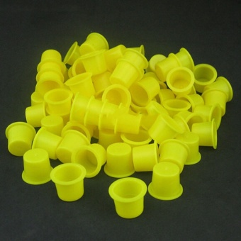 100PCS Tattoo Ink Caps Small Plastic Cups for Tattooing - intl