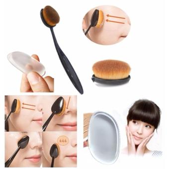 Harga JBS Paket Kuas - Oval Brush / Kuas Make Up Oval Brush / Oval Foundation Brush / Kuas Make Up - Silisponge silicon Sponge