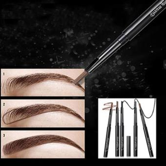 Harga New Eyebrow + Brush Pensil Alis Putar dengan Sikat - Coklat / Brown 1pc