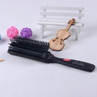 Anti-statis lebar HOT penataan rambut Salon Cukur Detangling ventilasi sikat sisir - Internasional
