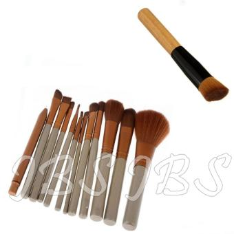 JBS Profesional Kuas 12 kemasan Kaleng N3 Brush Set - 12 Pcs - Professional Brush Powder Multifunction
