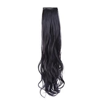 Harga zkz Long Curly Hair Extension Ponytail Hair for Ladies Hairpiece Wigs Natural black (Intl)