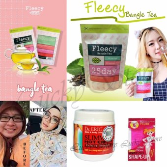 Harga Lucky - Fleecy Bangle Tea-Slimming Tea-Teh Pelangsing - 1Pcs + Dr.Eric Slimming Hot Cream-1Pcs+Shape Up Perut-1Pcs