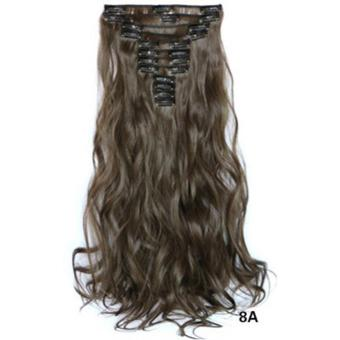 Harga Hair Extension Perpanjangan Rambut model klip clip wigs long curly 55 cm 8a