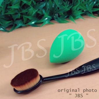 Harga JBS Paket Kuas - Oval Brush / Kuas Make Up Oval Brush / Oval Foundation Brush / Kuas Make Up And Spon Make Up - Beauty Blender - 1 Pcs - Multi Colour