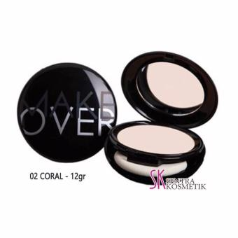 Harga Make Over Perfect Cover Two way Cake 02 - Coral