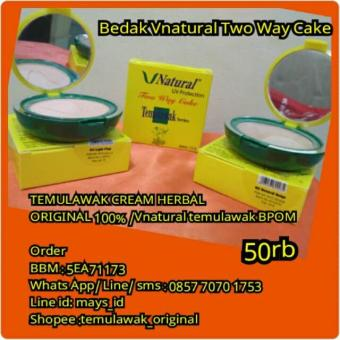 Harga Bedak Vnatural Two Way Cake