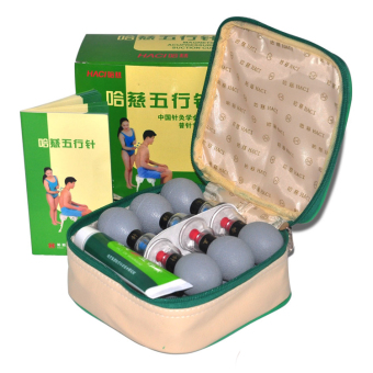 Harga 18 Silver household Vacuum Haci Magnetic Therapy Acupressure Suction Cup TCM acupuncture and moxibustion Cupping Set Health Care