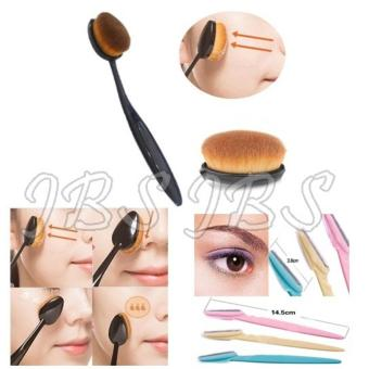 Harga JBS Paket Kuas - Oval Brush / Kuas Make Up Oval Brush / Oval Foundation Brush / Kuas Make Up - Cukuran Alis - Pembentuk Alis Indah