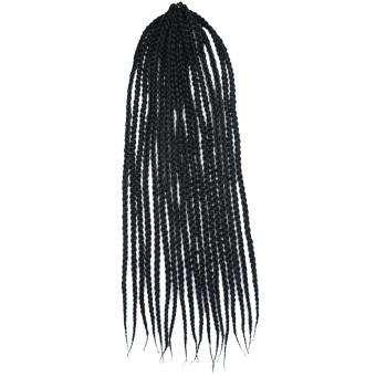 60,96 cm Havana Mambo mata rajut kepang rambut sintetis Senegal liku mengepang rambut ekstensi