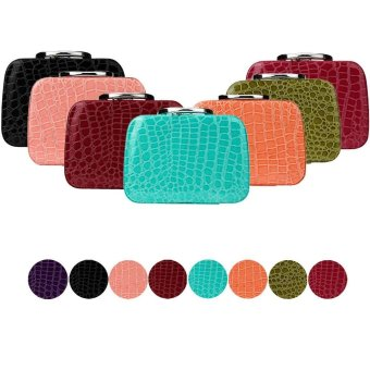 Harga FashionDoor Fashion Makeup Storage Bag Case Jewelry Box Leather Travel Cosmetic Organizer Green - intl