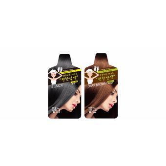 Harga INSTANT SHAMPOO HAIR COLORING 1 BOX_BLACK (5 PCS) – HANYA 5 MENIT![Saerom] Murah