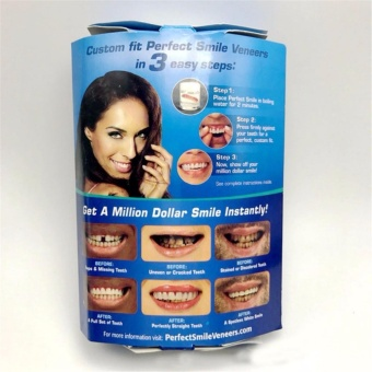 Harga Instant Smile Comfort Flex, NEW! One Size Fits Most. Fix Your Smile At Home Within Minutes! 5 Minute Adult Makeover, Comfortable Upper Veneer For A Perfect Smile! - intl