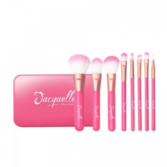 Jacquelle Beauty Brush Set (Flamingo) - Kuas Make Up Brush Make up Brush Set