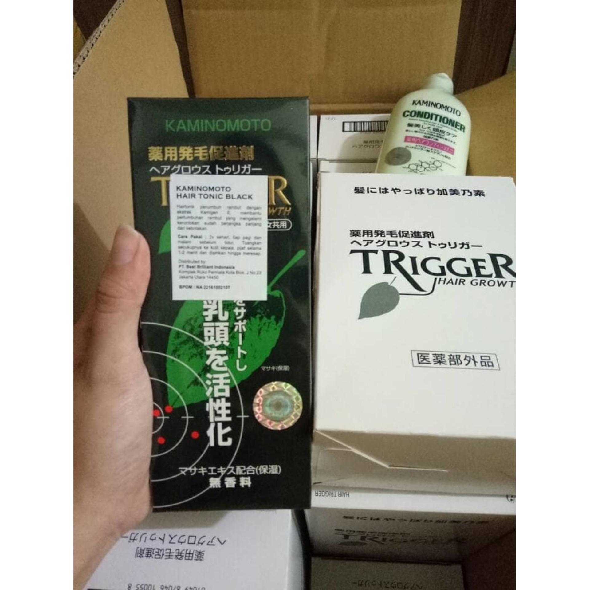Tonik Kaminomoto Hair Growth Accelerator Penumbuh 150ml Flash Sale Trigger 180ml Original Bpom