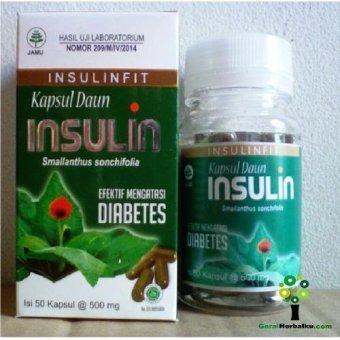 kapsul daun insulin herbal diabetes lazada indonesia