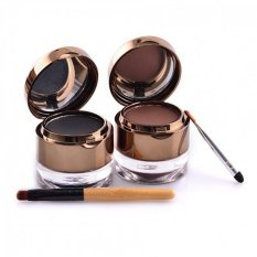 Kiss Beauty Eyebrow Gel Cake - 2 pcs Black and Brown
