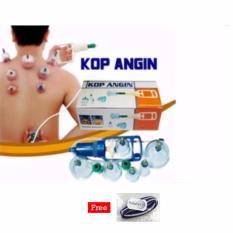 Kop Angin - Alat Bekam Kop Angin Ampuh Mengeluarkan Penyakit - Lengkap Isi 6 Pcs + Free Ikat Rambut Polkadope - 1Pcs