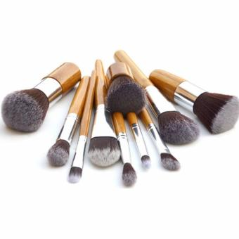 Bandingkan Toko Kosmetic Make Up Brush 11 Set With Pouch Kuas Make Up Perbandingan harga