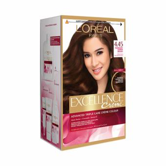 Harga L'Oreal Paris Excellence Creme – #4.45 Mahogany Copper Brown Murah