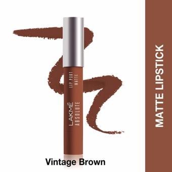 Lakme Absolute Reinvent Lip Pout Matte Vintage Brown